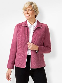 Patterned Faux Suede Jacket product image (441161.BY.4.6_WithBackground)