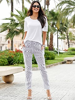 Striped Casual Pants product image (441391.GYST.2.1_WithBackground)