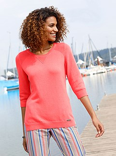 3/4 Sleeve Ribbed Sweater product image (441448.CO.1M)