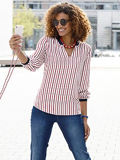 Striped Blouse product image (441569.RDWH.1.1_WithBackground)