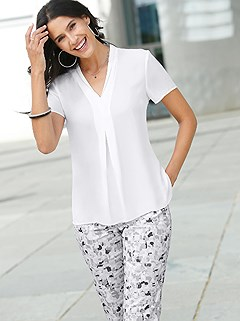 V-Neck Blouse product image (441653.WH.1.1_WithBackground)