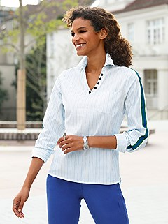 Striped Trim Blouse product image (441705.WH.1.M)