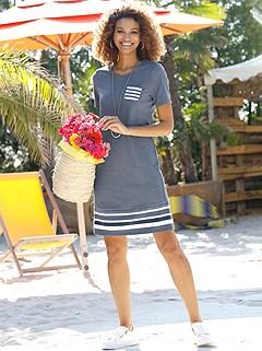 Casual Stripe Trim Dress product image (441739.SMBL.1S)