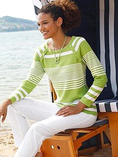 Stripe Mix Sweater product image (441803.KWWH.1.1_WithBackground)