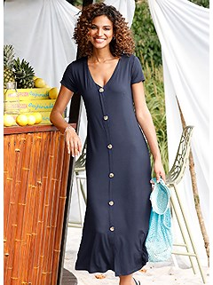 V-Neck Button Panel Dress product image (441824.NV.1.1P)