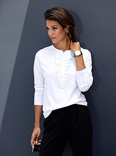 Ruched Button Panel Top product image (441833.WH.3.1_WithBackground)