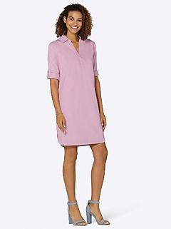 Denim V-Neck Dress product image (441923.RS.3.1_WithBackground)