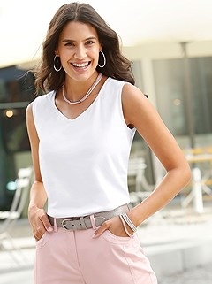 V-Neck Tank Top product image (442020.WH.1.P)
