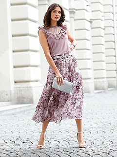 Tiered Floral Skirt product image (445697.MVPR.1.9_WithBackground)