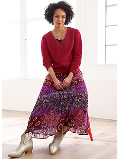 Floral Boho Maxi Skirt product image (504059.RDMU.11)
