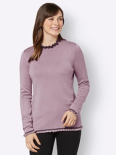 Ruffled Hem Sweater product image (505219.MVCH.3.1_WithBackground)