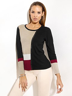 Color Block Sweater product image (505270.BKMU.1.1_WithBackground)
