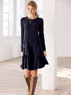 Curve Hem Knit Dress product image (505385.NV.1.5_WithBackground)