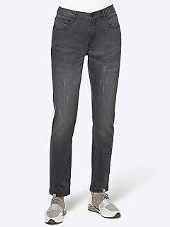 Distressed Slim Fit Jeans product image (505386.GY.3.1_WithBackground)