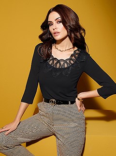 Delicate Lace Neckline Top product image (505485.BK.1.1_WithBackground)