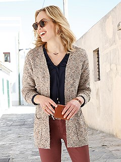 Boucle Fabric Cardigan product image (505636.SABR.2.1_WithBackground)