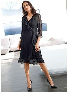 Ruffled Wrap-Look Dress product image (505681.BK.11)