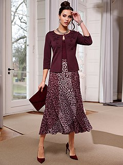 Print Mix Flared Skirt product image (505763.BUMV.1.9_S)
