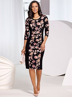 Floral Panel Dress product image (505858.BKPR.1S)