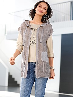 Shimmering Open Knit Vest product image (505890.TP.1.1_WithBackground)