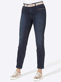 Zip Ankle Jeans product image (505963.DKBL.4.1_WithBackground)