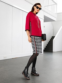 Houndstooth Skirt product image (505981.BKEC.2.9_WithBackground)