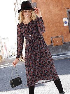 Long Sleeve Floral Dress product image (506036.NVPY.1M)