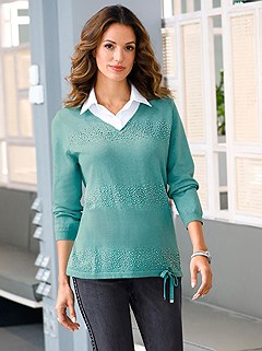 Shimmer Layered Sweater product image (506097.GRMO.1s)