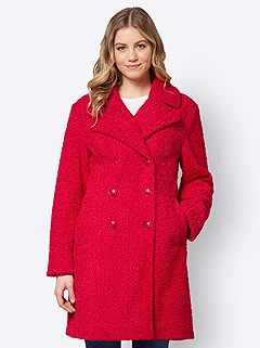 Boucle Long Coat product image (506220.RD.3.1_WithBackground)