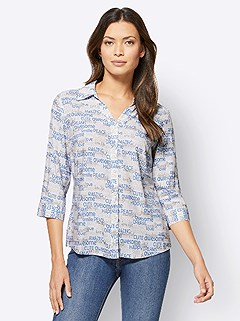 Graphic Lettering Blouse product image (506258.ECBL.3.1_WithBackground)