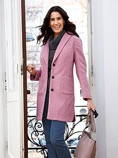 Shawl Collar Boucle Jacket product image (506379.ODRS.1M)