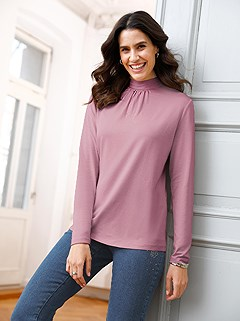Stand-Up Collar Top product image (506384.POWD.1.1_WithBackground)