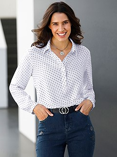 Polka Dot Collared Blouse product image (506403.ECPR.1.P)
