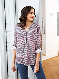 Diamond Pattern Blouse product image (506451.RSGY.1.1_WithBackground)