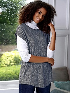 Side Button Sleeveless Sweater product image (507418.BLMO.1.8_WithBackground)