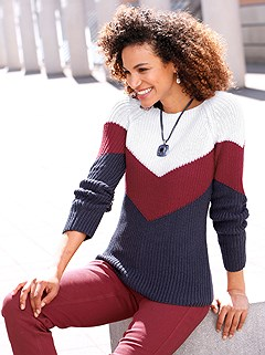 Color Block Sweater product image (507605.WHDB.1M)