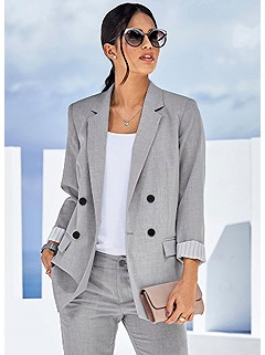 Double Breasted Blazer product image (507610.LGMO.3S)