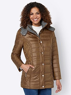 Flannel Trim Quilted Jacket product image (507662.BR.3.1_WithBackground)
