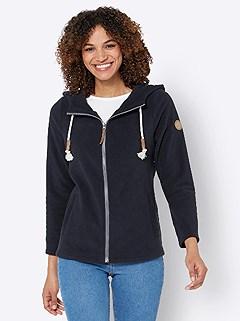 Drawstring Hood Fleece Cardigan product image (523681.NV.3.1_WithBackground)