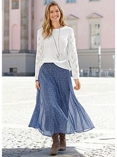 Printed Maxi Skirt product image (523732.BLPR.1S)
