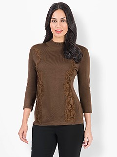 Lace Detail Sweater product image (524273.BR.3.1_WithBackground)