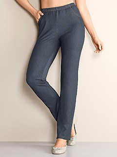 Denim Look Leisure Pants product image (831153.DEBL.1.1_WithBackground)
