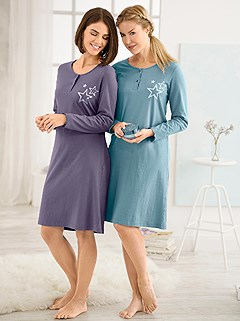 2 Pk Long Sleeve Nightgown product image (891572.PEPU.5.1_WithBackground)