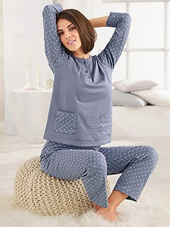 Polka Dot Print Pajama Set product image (891690.BLDT.2.1_WithBackground)