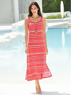 Striped Sleeveless Cover Up product image (930329.RDST.2.1_WithBackground)