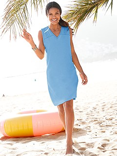 V-Neck Cover Up product image (995048.LB.1.1_WithBackground)