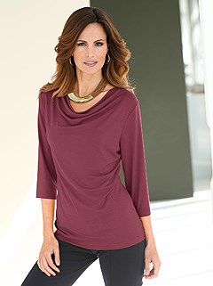 Cowl Neck Top  product image (B54133.BORD.1.HE)