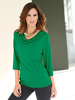 Cowl Neck Top  product image (B54133.GR.1.HE)