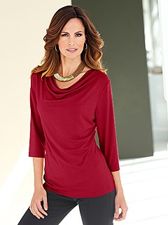 Cowl Neck Top  product image (B54133.RD.1.HE)