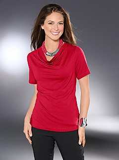 Cowl Neck Top product image (B54134.RD.1.HE)